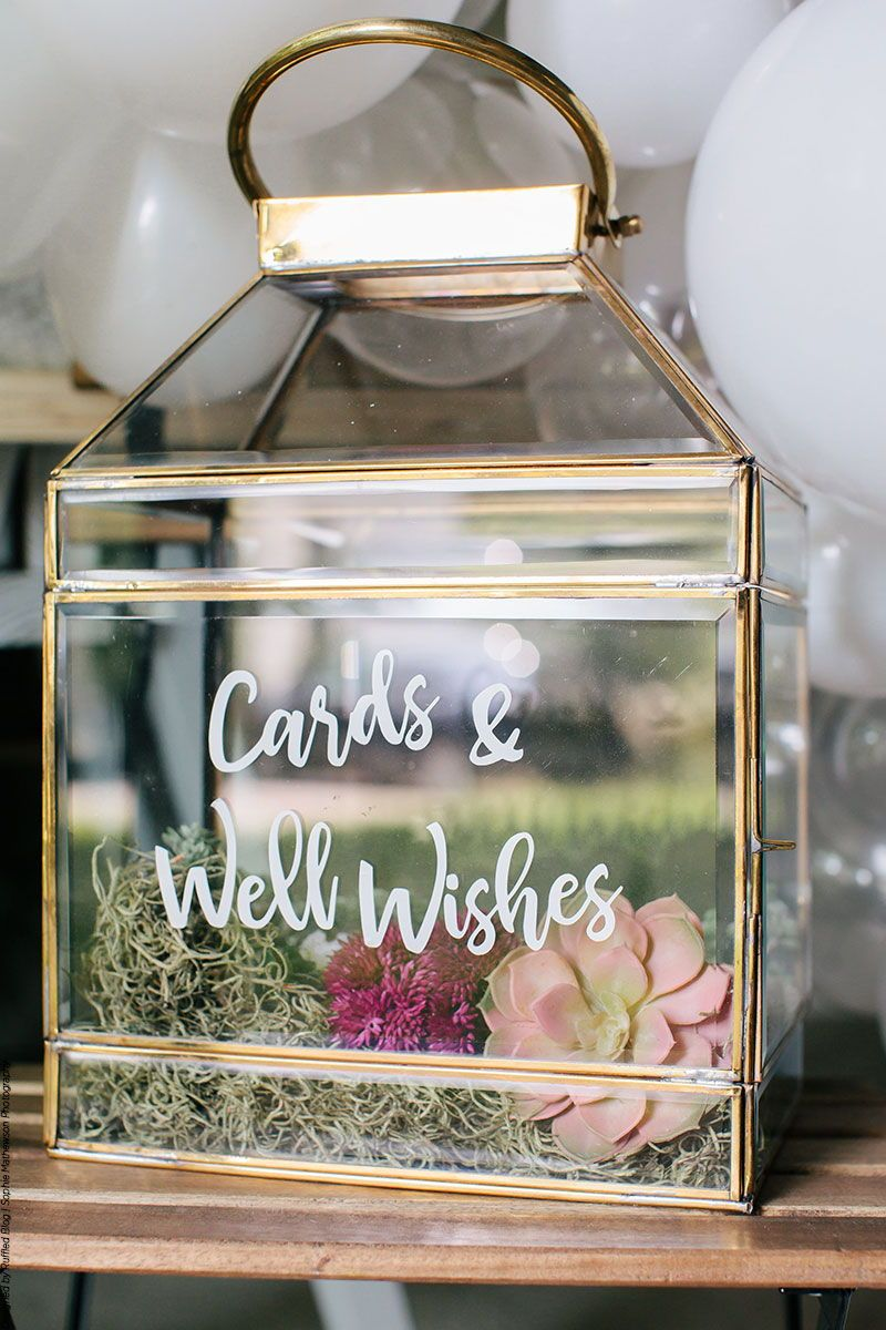 How To Make A Terrarium Cardbox  Card box wedding diy, Card box