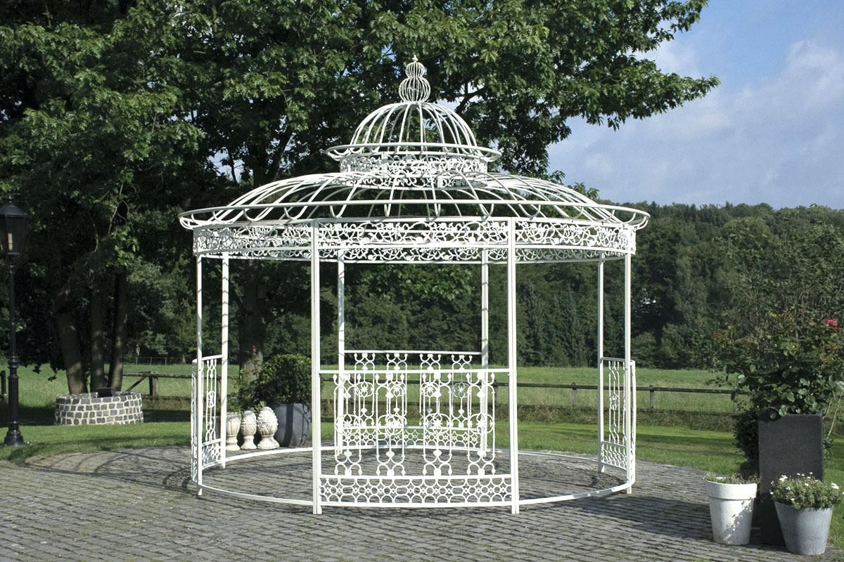 Pavillion Rund Metall Xxl Luxus Eisenpavillon Romantik A500cm Antik ...