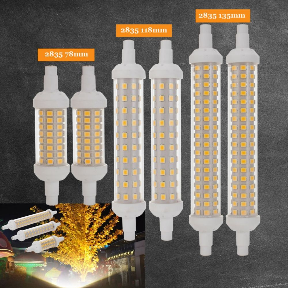 Ceramic Body R7s Led Lamp 10w 15w 20w Smd 2835 78mm 118mm 135mm R7s Led Light Bulb Ac220v Energy Saving Re Led Bulb Led Light Bulb Outdoor Led Christmas Lights