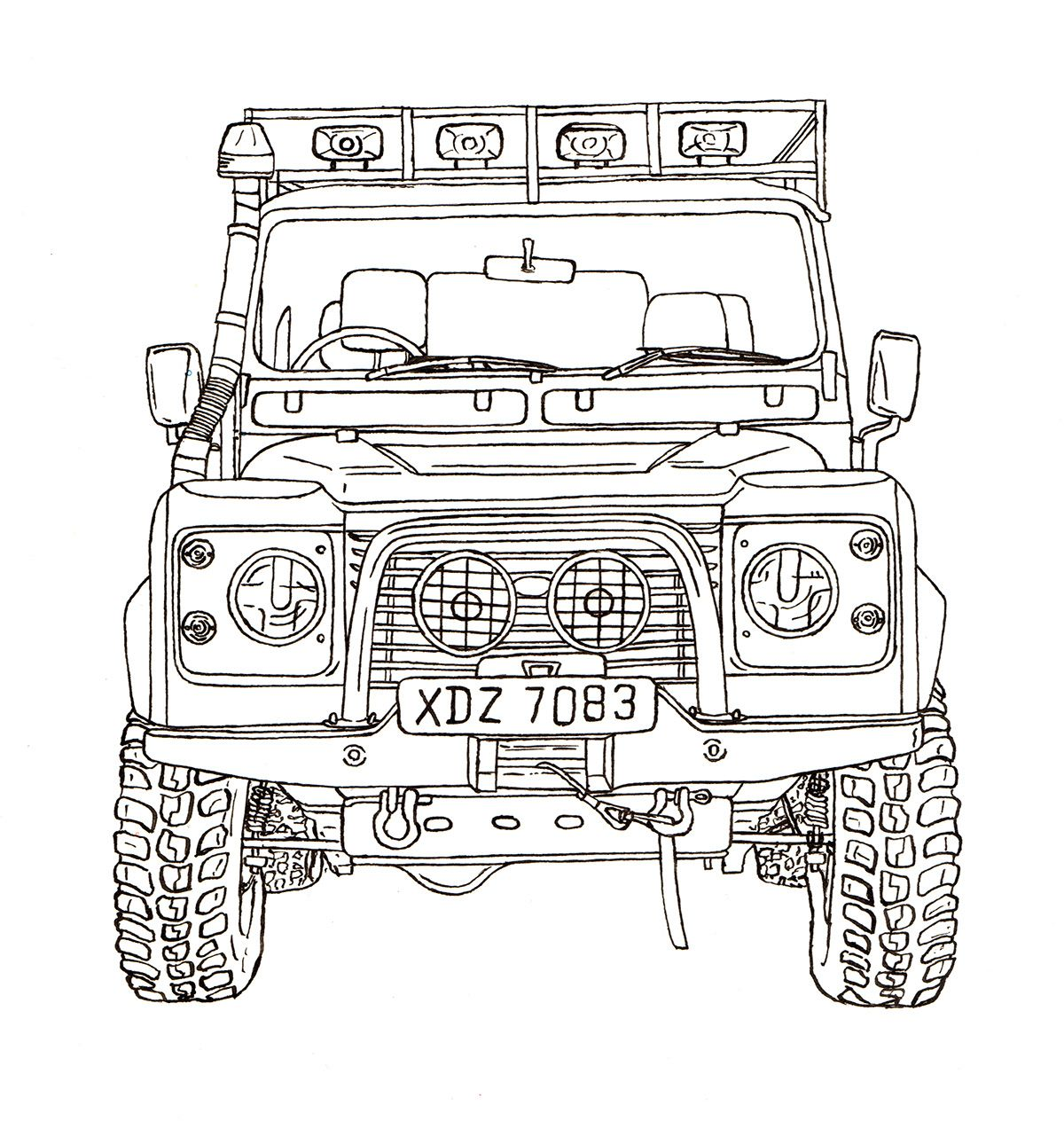 Land Rover Illustrations On Behance Land Rover Land Rover Defender Land Rover Defender 110