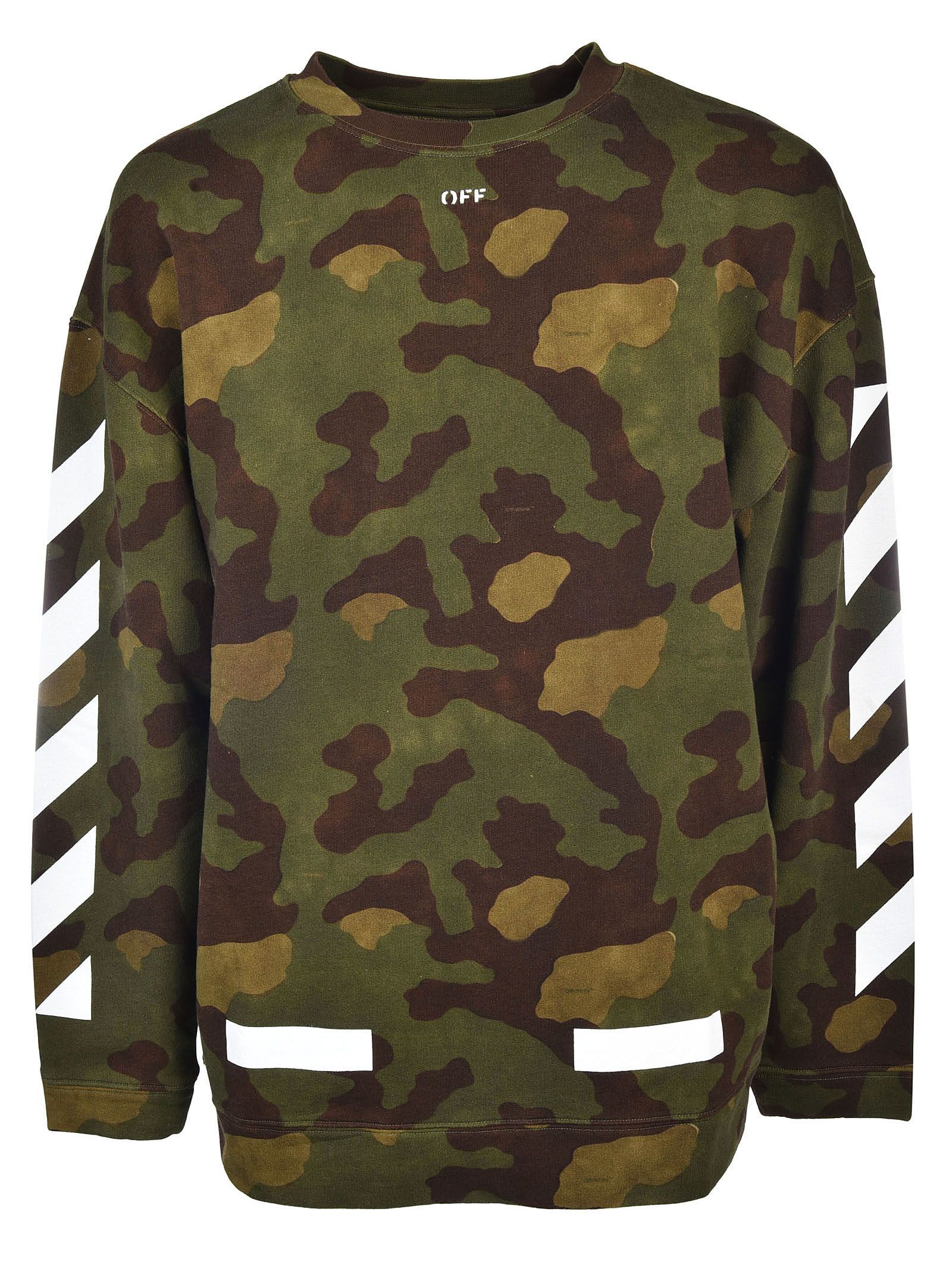 Off White Off White Diag Camouflage Sweatshirt Off White Cloth