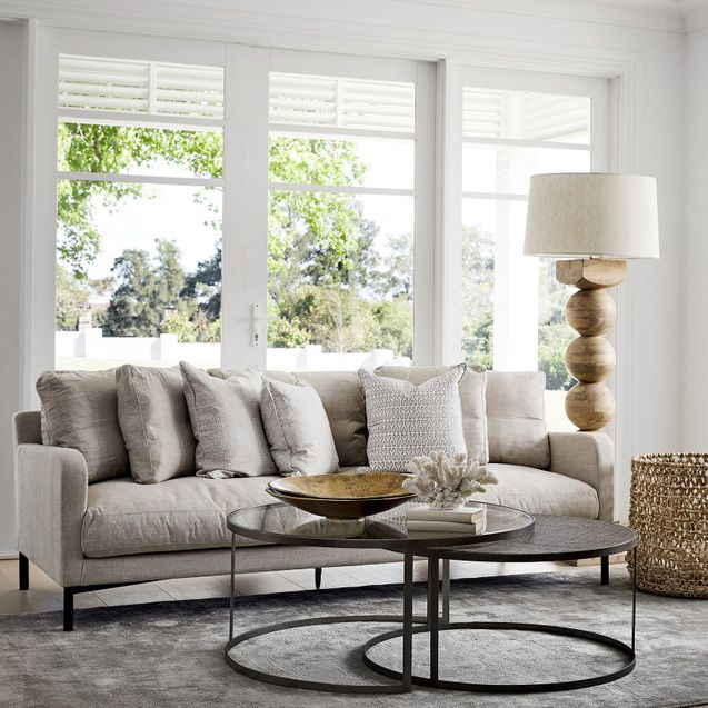 Deep-seated comfort and elegant aesthetics define our new SASSOON seating range. A transitional modern design that suits both comfortable family living and formal entertainment. Available in various size options to fit any room. Pair it with our BROOKLYN coffee table set.  Shop online or visit our showrooms.  #lovelamaison #furnituredesign #homeinteriors #livingroomdesign #livingroominterior #livingroominteriors #livingroomfurniture #livingroomstyling #sofadesign #couchstyle #coffetable