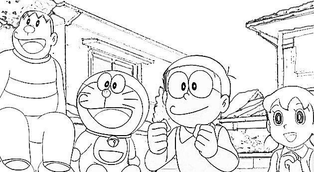 Dibujos Para Colorear De Doraemon Y Sus Amigos Coloring Books Cat Coloring Book Toddler Coloring Book