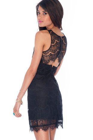 Eyelashed Out Tank Dress in Black $39 at www.tobi.com