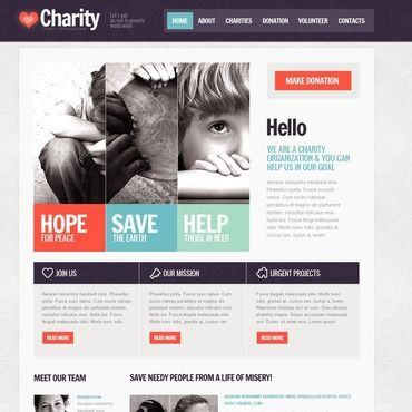 Child Charity Website Template | Website and Website themes