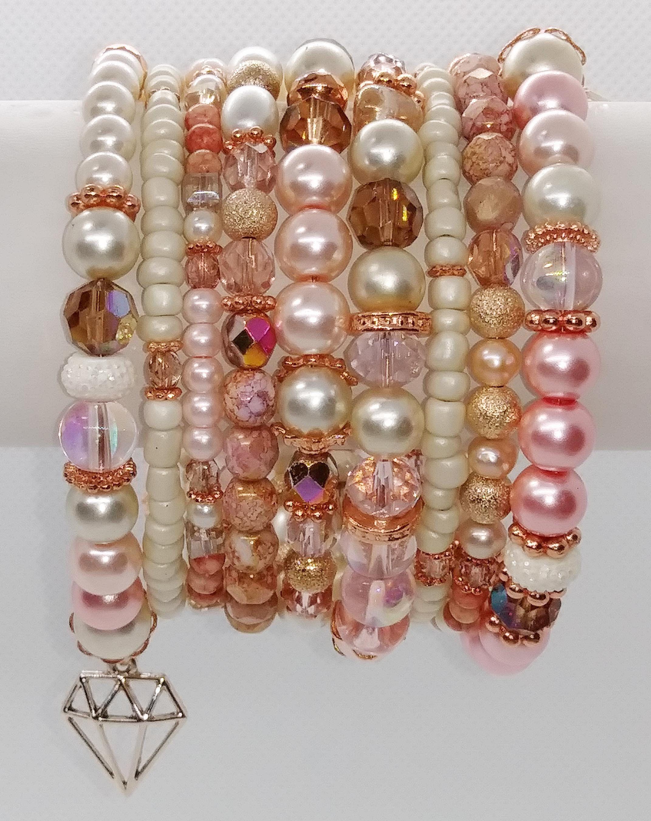 Blushing Bride wire bracelet
