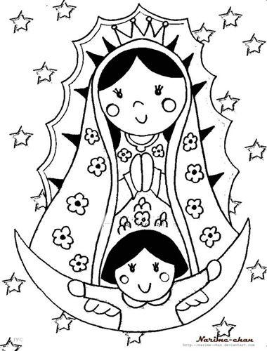 La Virgen De Guadalupe Coloring Pages Dibujos De Virgen