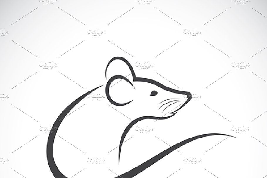 Vector Of A Rat Design Background Design Vector Animal Icon Black And White Logos