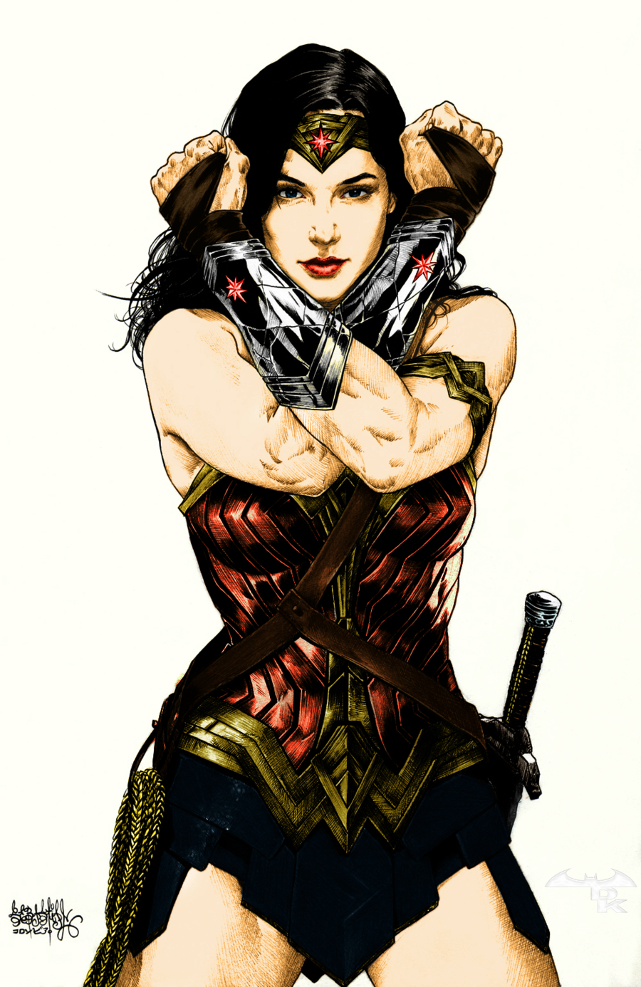 Wonder Woman (Gal Gadot) Classic color by Alexbadass | All Wonder ...