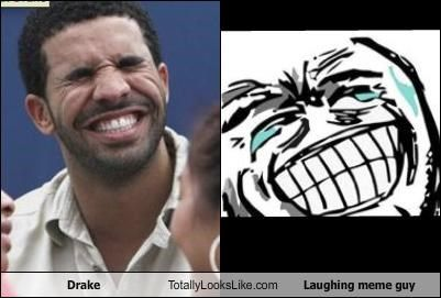 Funny Meme Guy : Drake totally looks like laughing meme guy funnyclone