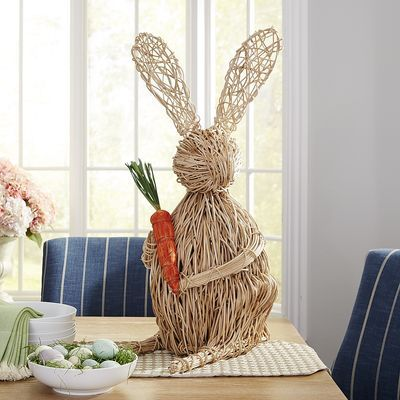 . Large Vine Rabbit with Carrot   Easter     Pier 1 Imports   Eastwood