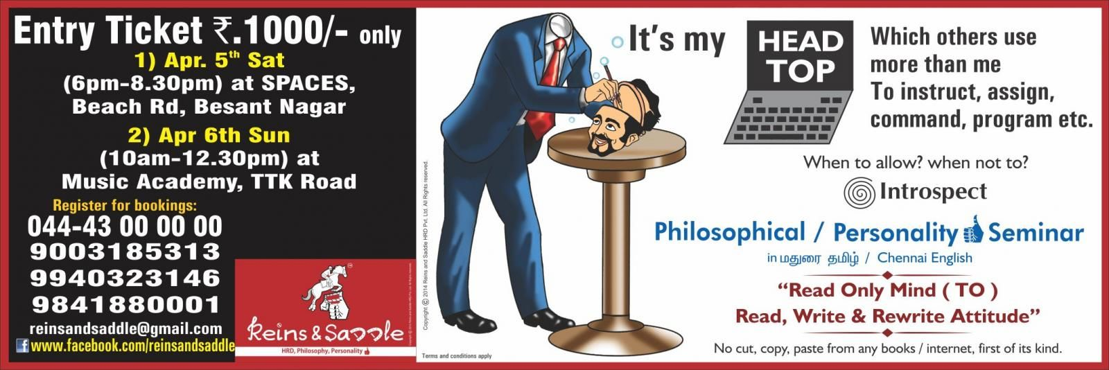 Philosophical / Personality Seminar