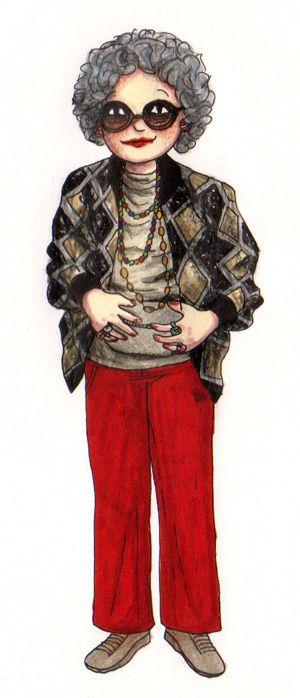 Le Cosplay Game   grand-mère Yetta Rosenberg dans la série