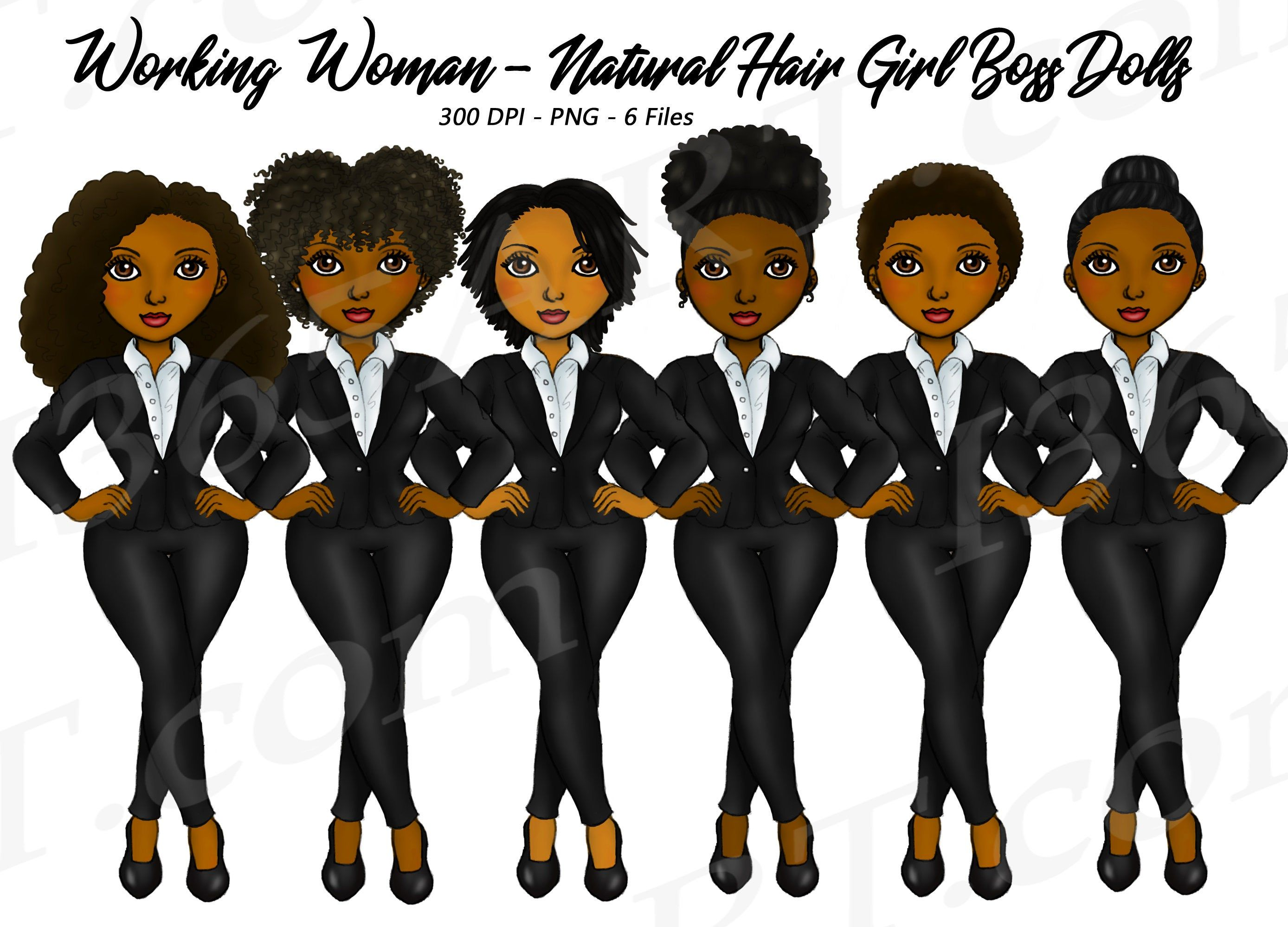Buy 3 Get 1 Free Business Woman Clipart Natural Hair Clipart Etsy Fashion Clipart Natural Hair Styles Girl Clipart