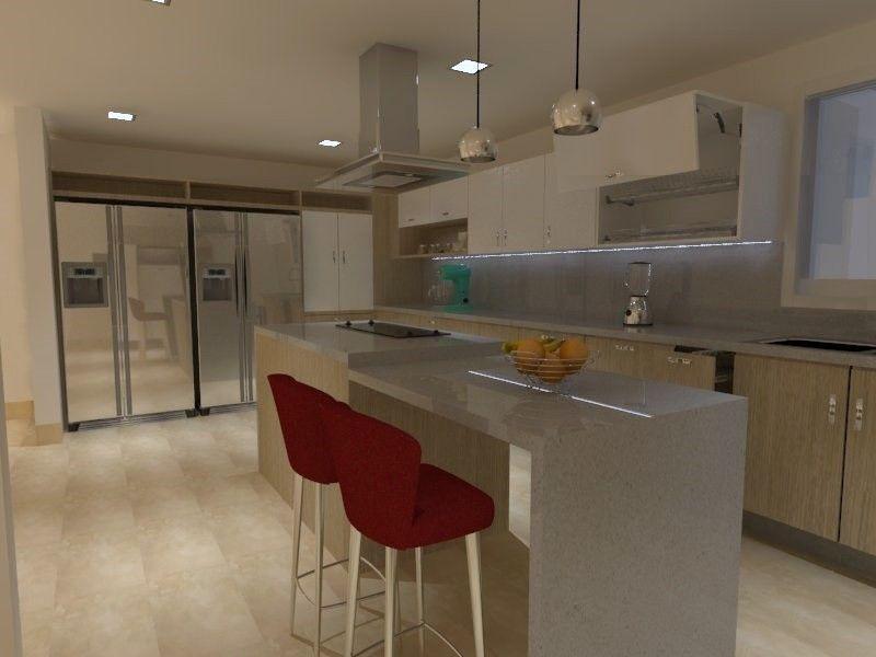 Cocina Disenada Proxima A Fabricar Breakfast Bar Decor Home Decor