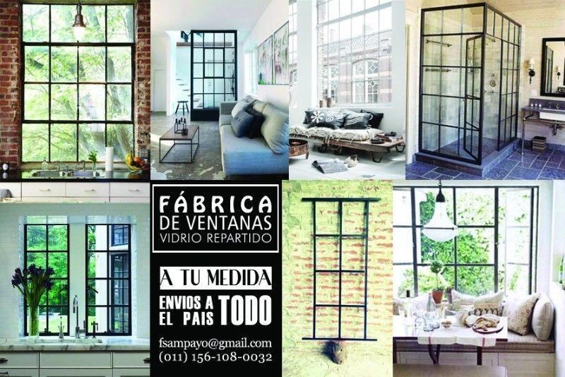 Ventanas de hierro de vidrio repartido a medida deco for Puertas y ventanas de hierro antiguas