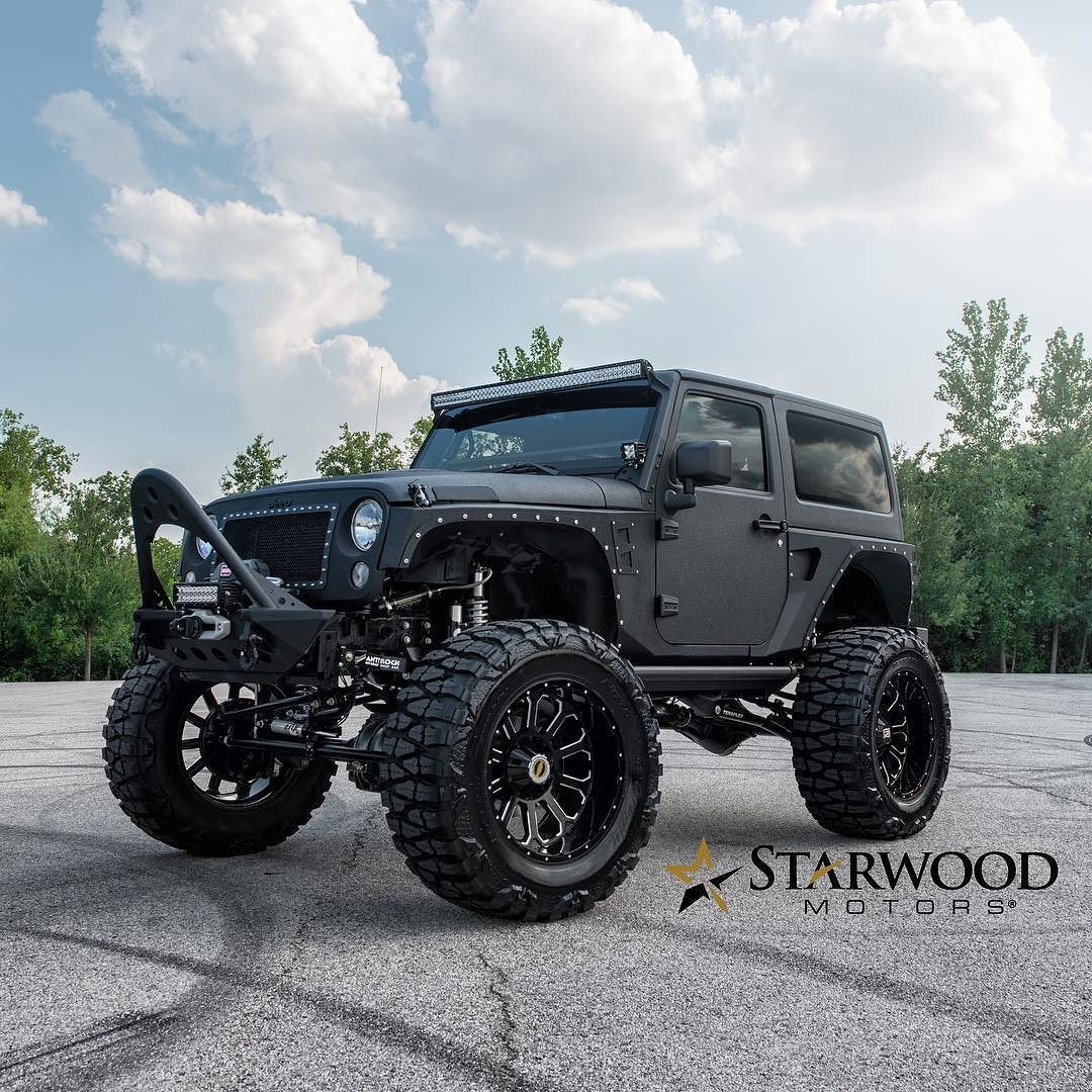 Black Custom 2 Door Jeep Wrangler