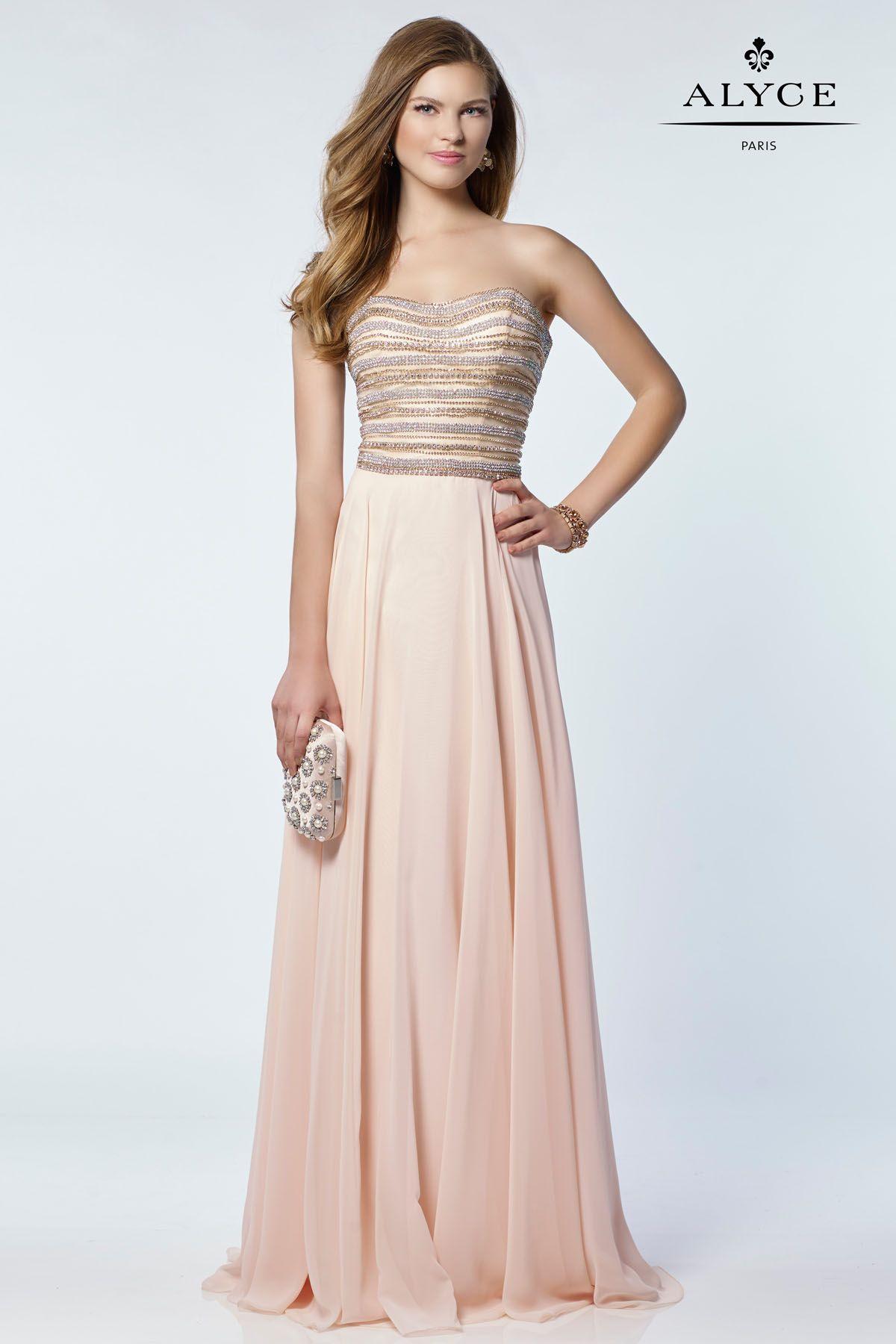 Alyce Paris 6690 Maxi dress wedding, Sweetheart prom