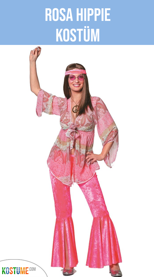 Herren /& Damen Paare Hell Hippie 70er 60er Verkleidung