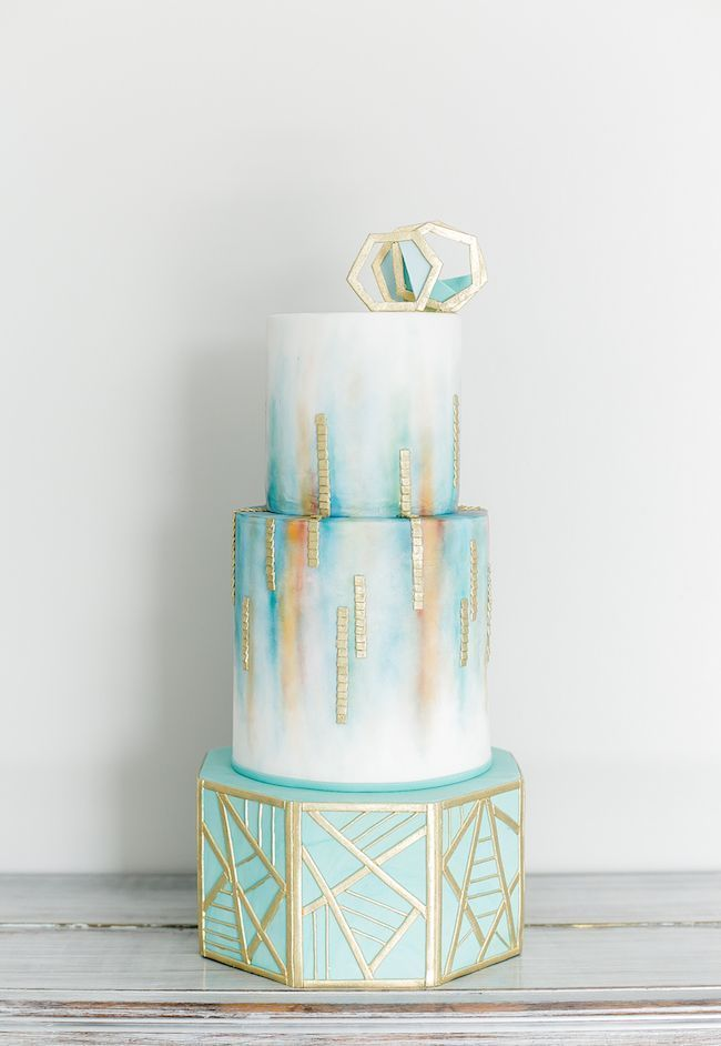 Ethereal Watercolour-Inspired Teal and Gold Wedding Ideas