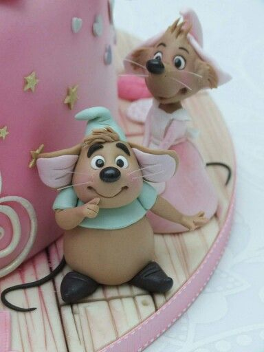Cinderella Mice Toppers Princess Cakes Cupcakes and Cookies