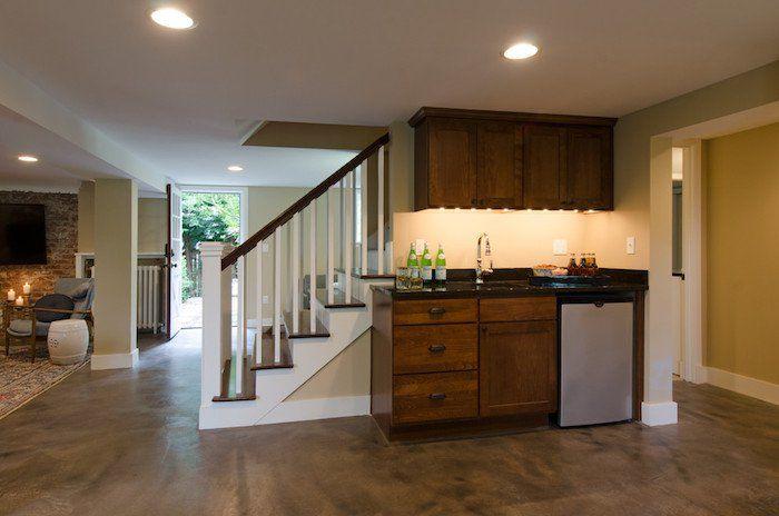 wohnfl che gewinnen kellerraum ausbauen souterrain wohnung einrichten direkter zugang. Black Bedroom Furniture Sets. Home Design Ideas