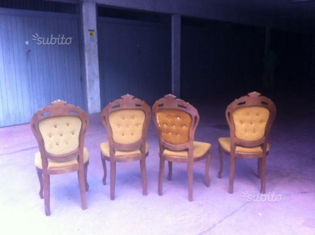 Mobili barocchi ~ Sedie di legno stile barocco mobili su subito