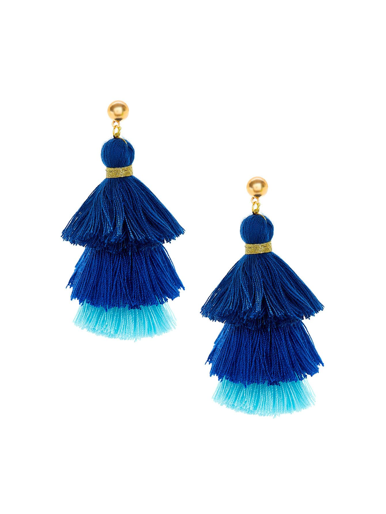 572a07940 Shop Two Tone Layered Tassel Drop Earrings online. SheIn offers Two Tone Layered  Tassel Drop Earrings & more to fit your fashionable needs.