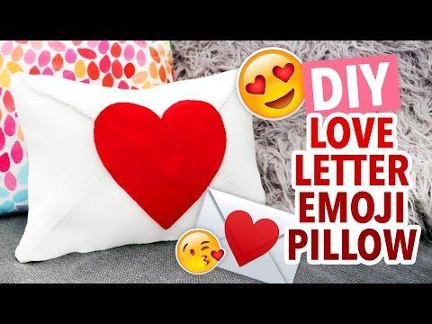 Diy Heart Envelope Emoji Pillow Valentine S Day Craft Hgtv