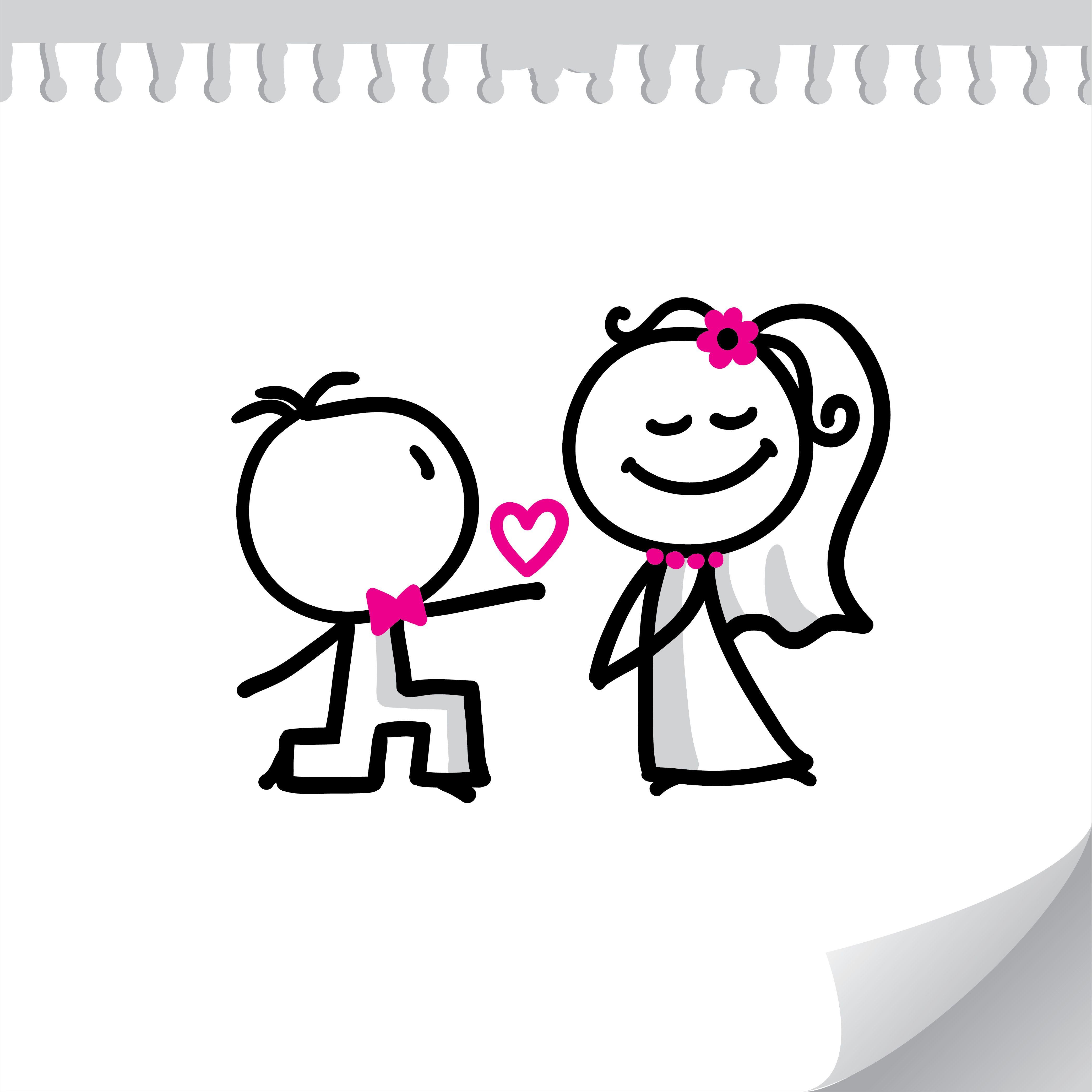 Proposal Wedding Engagement Congratulations Clipart