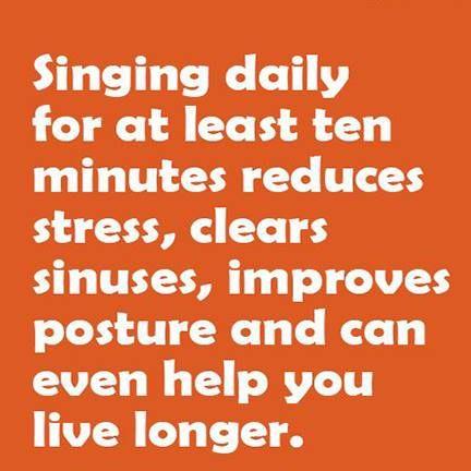 Singing..