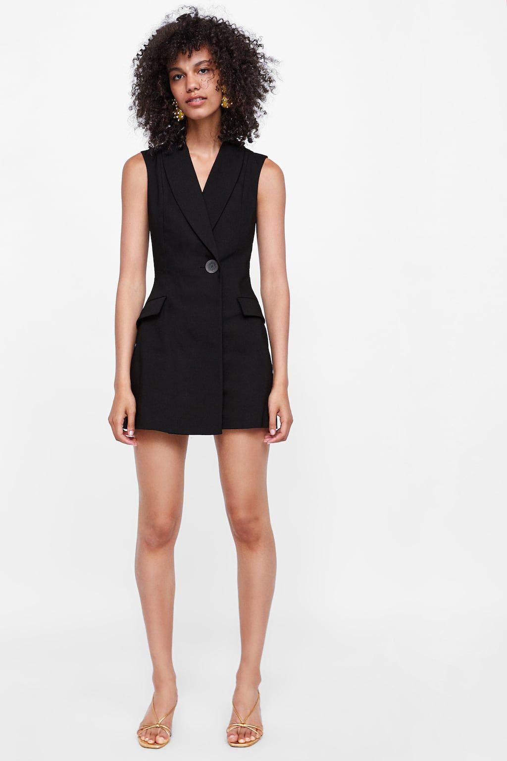 zara - sale - lace lapel jumpsuit | kleines schwarzes kleid