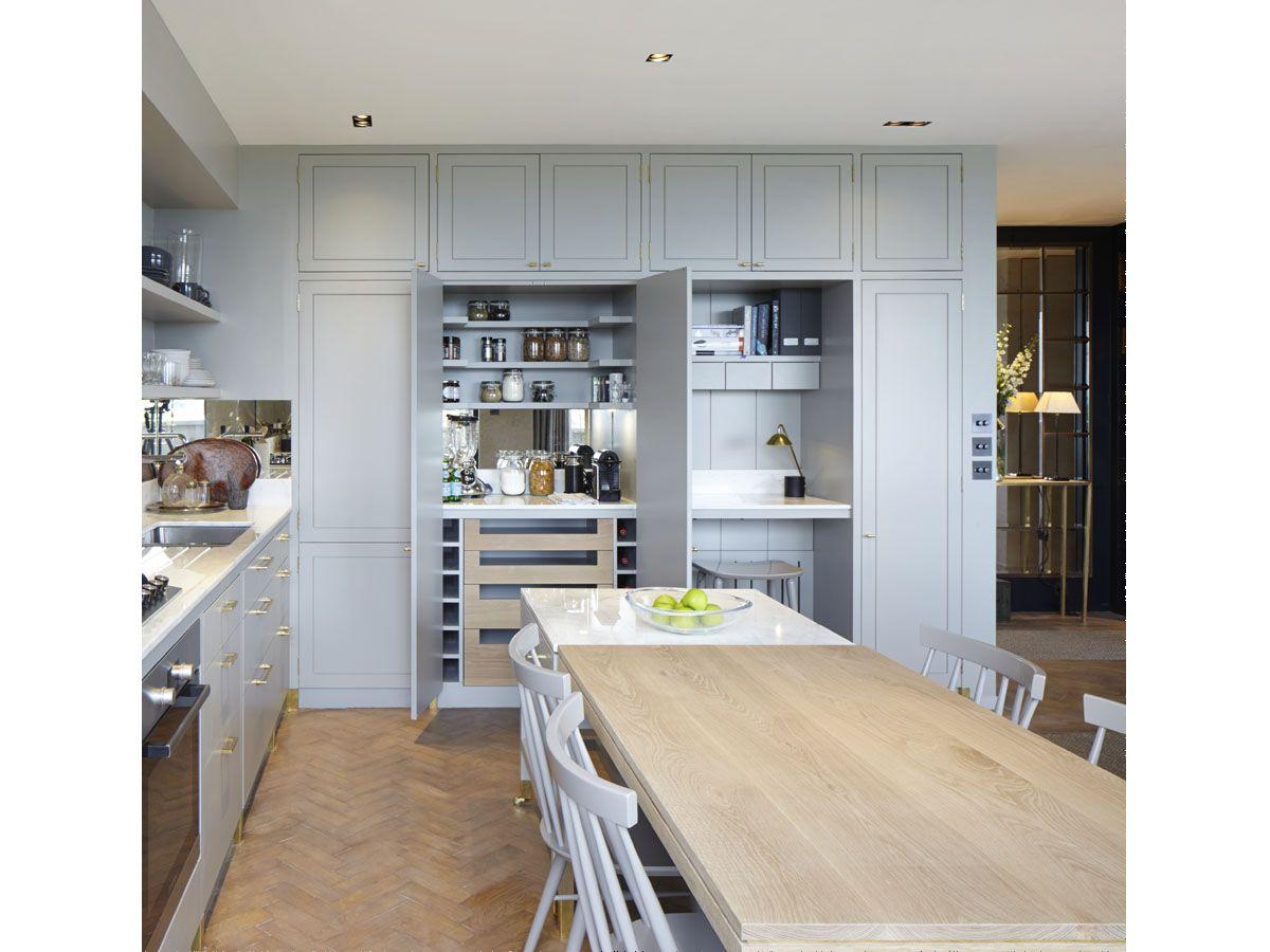 hidden work station in kitchen | Client MK | Pinterest | Kitchens ...