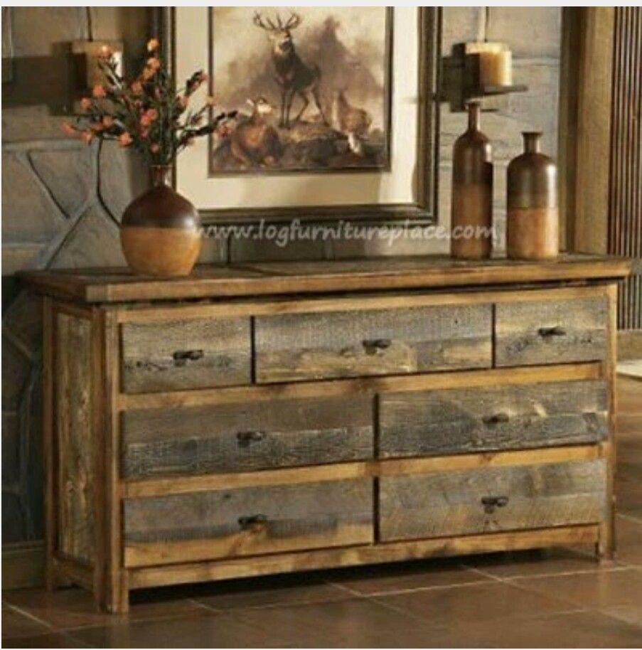 Sawmill Hickory 9 Drawer Rough Sawn Dresser Barn Wood Wood Dresser Diy Dresser