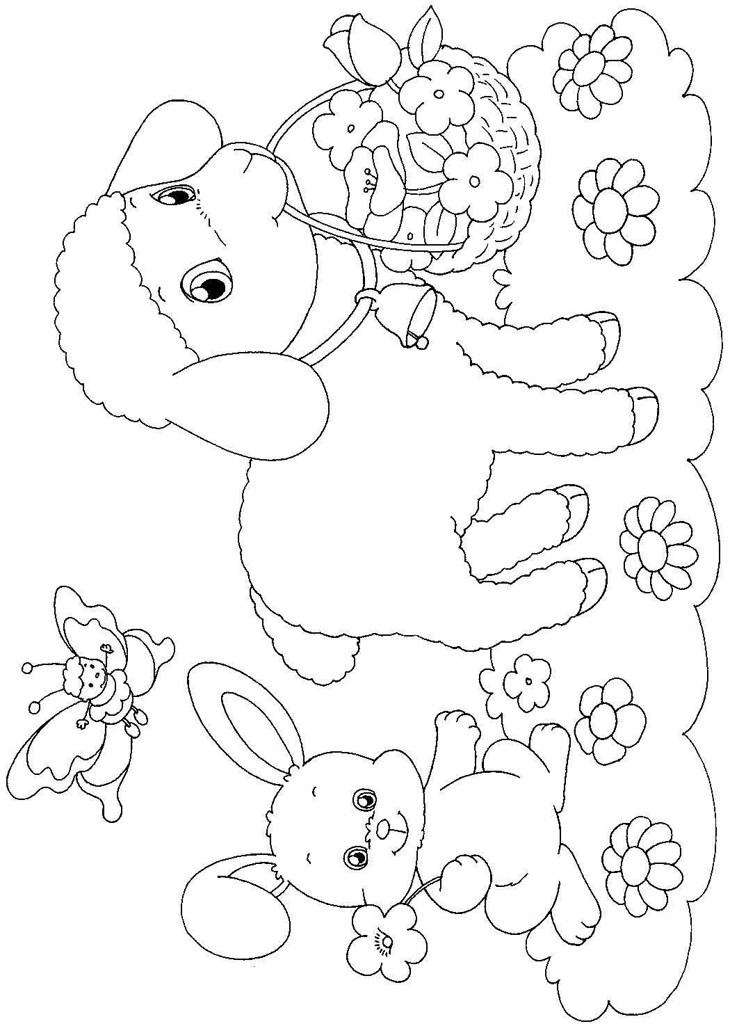 Easter Lamb Coloring Pages Free 7 D Spring Coloring Pages Bunny Coloring Pages Easter Coloring Pages