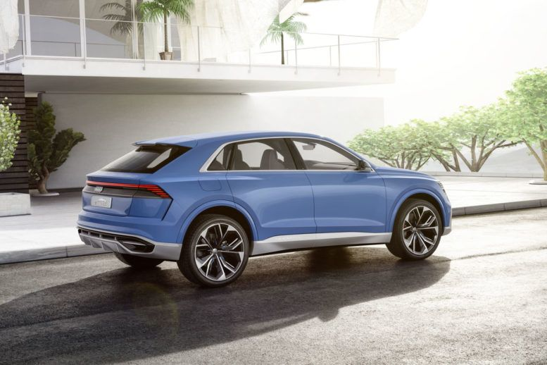 2018 Audi Q8 Dimensions Are Almost Completely Rounded 5 Meters In Length 2 Meters In Width A Wheelbase Of 3 Meters Design Audi Luxury Crossovers