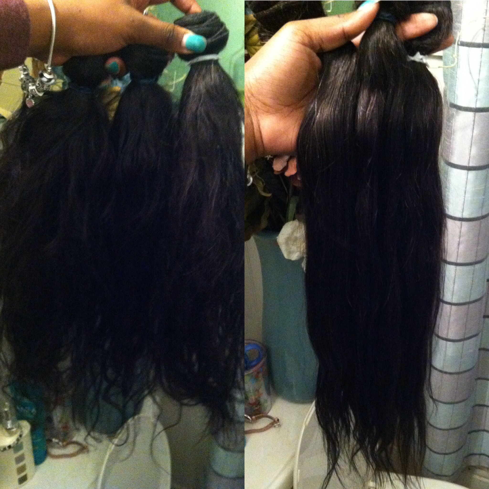 Virgin Hair Bleach Bath Results