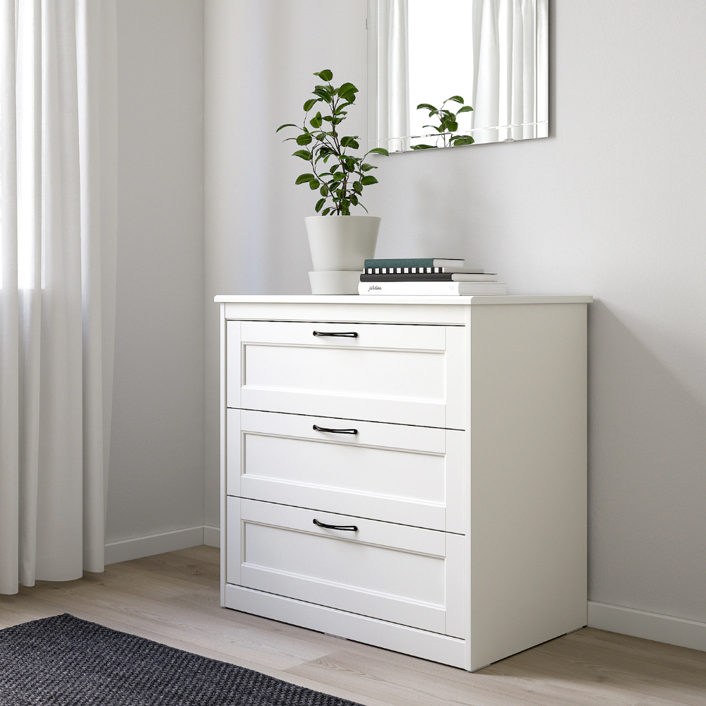 "SONGESAND 3drawer chest, white, 32 1/4x31 7/8"" IKEA in"