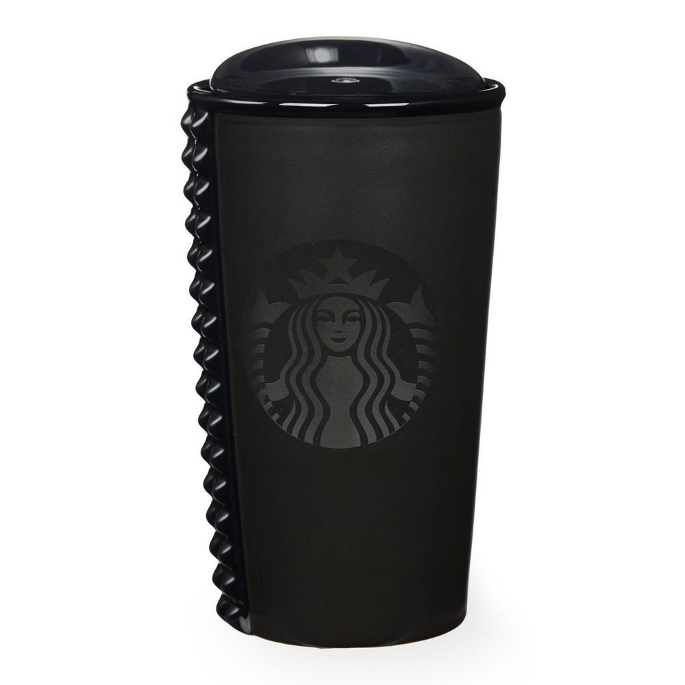 Starbucks Black Studded Double Wall Traveler 10 Fl Oz Red