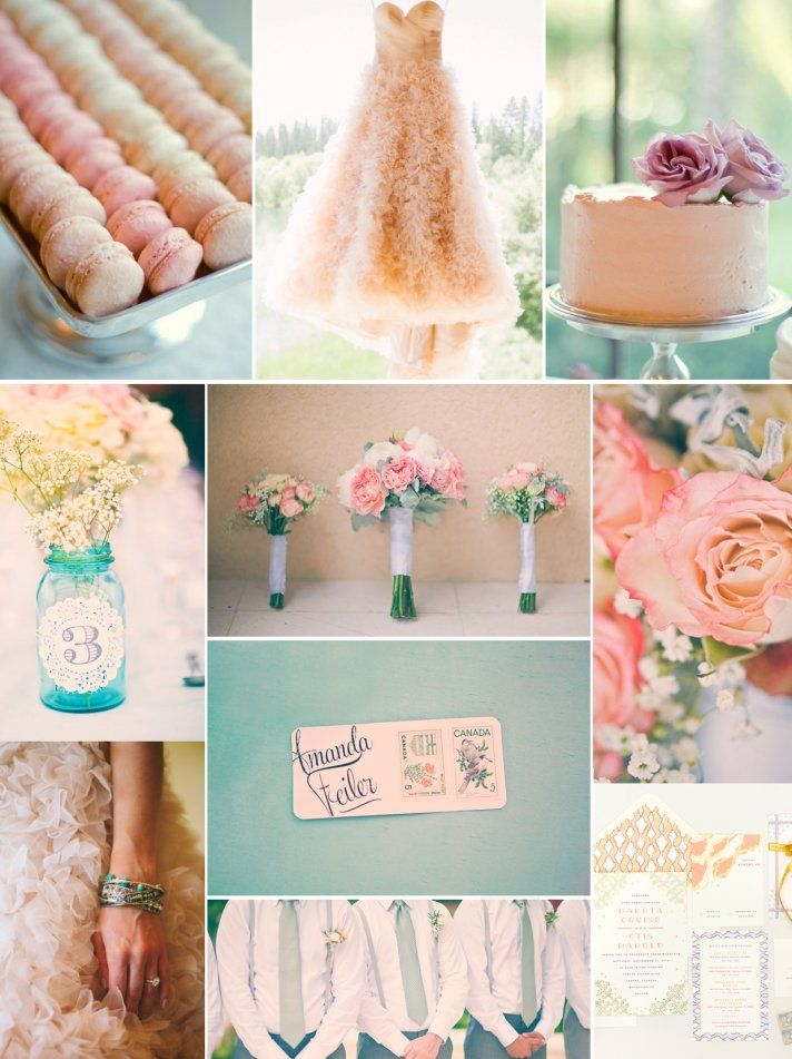 Peaches Cream With A Twist Of Serene Wedding Colors