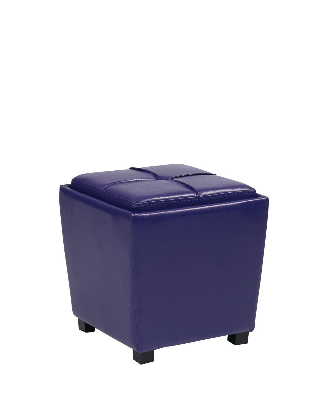 Admirable Osp Designs Furniture Decor 2 Piece Purple Vinyl Ottoman Set Creativecarmelina Interior Chair Design Creativecarmelinacom
