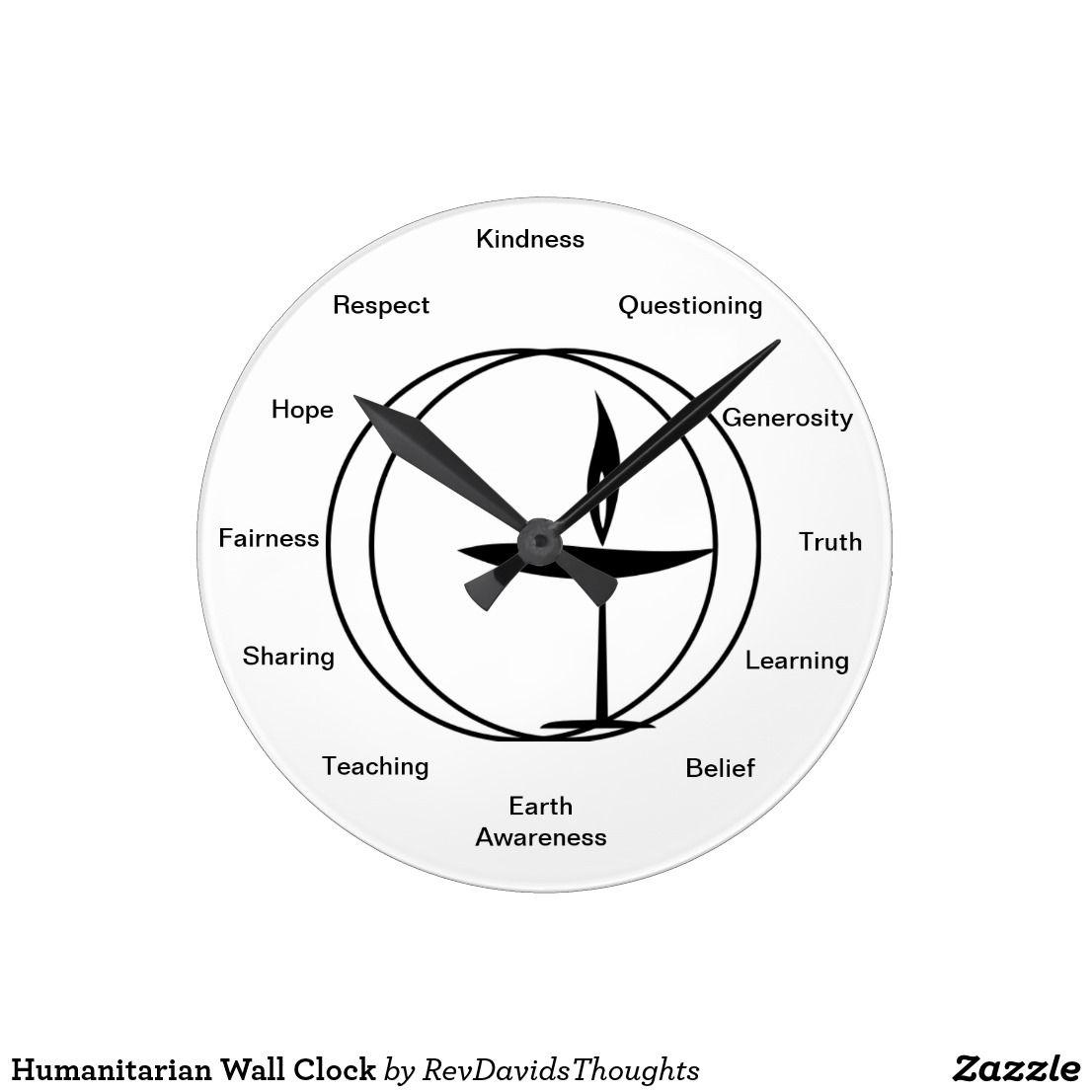 Humanitarian Wall Clock