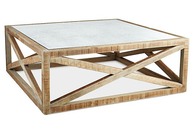 Manning 42 Square Coffee Table Natural On Onekingslane Com