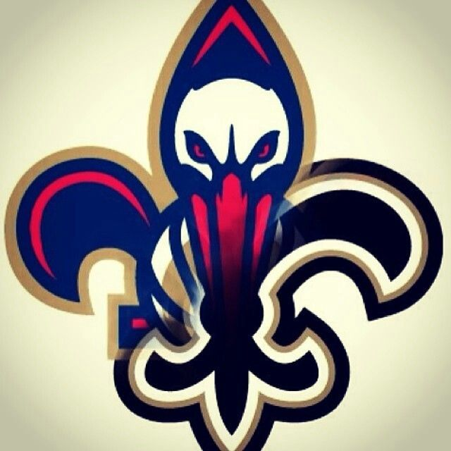 New Orleans Saints And Pelicans Logos Combined Into A
