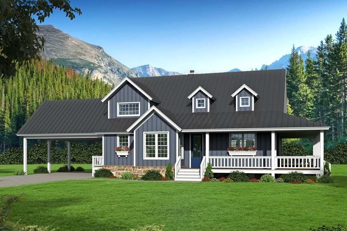 Plan 68540VR Country Home Plan with Two Master Suites and