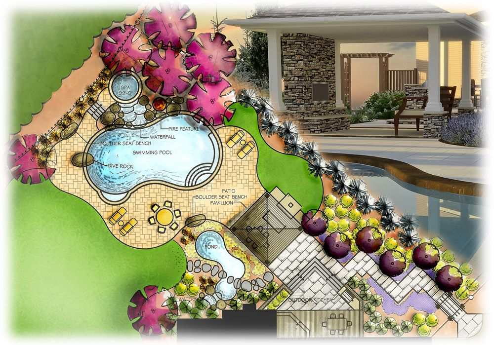 were experts in residential landscape design and pool design and we also manage - Residential Landscape Design Ideas