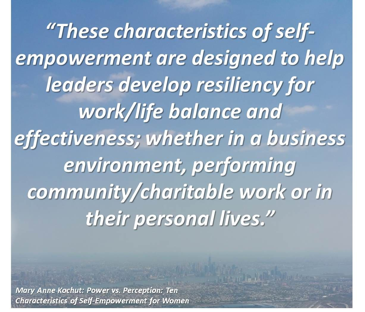 These Characteristics Of Self Empowerment Are Designed To