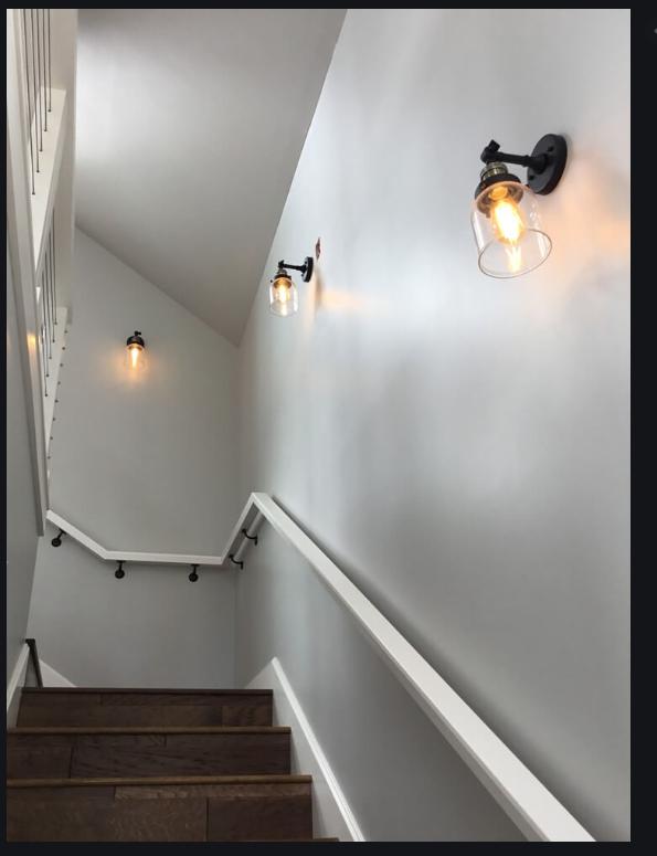 basement stair lighting staircase