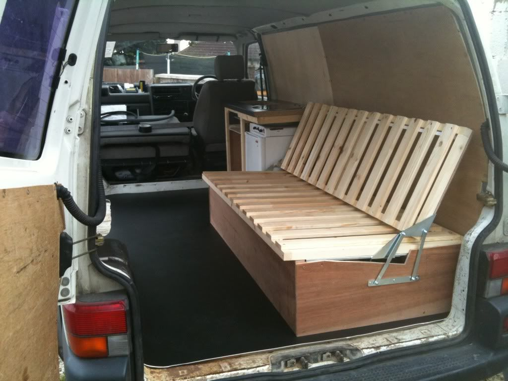 Ausziehbett Interio Self Made Wooden Seat Beds Pics Please Page 2 Vw T4
