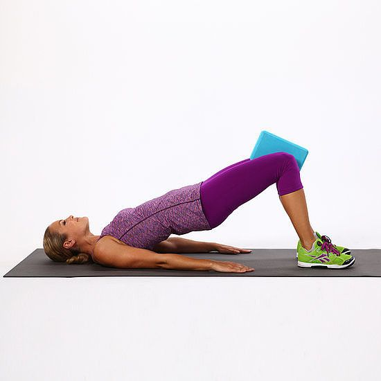 Bridge With Squeeze  Exercise, Tone Inner Thighs, Thigh -6181